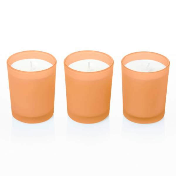 Modern scented candle set of 3, Mango Guava
