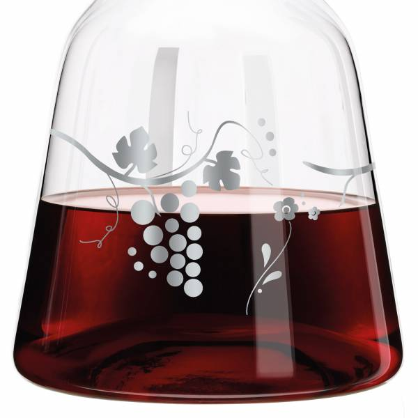 Red & White Weinkaraffe von Sandra Brandhofer
