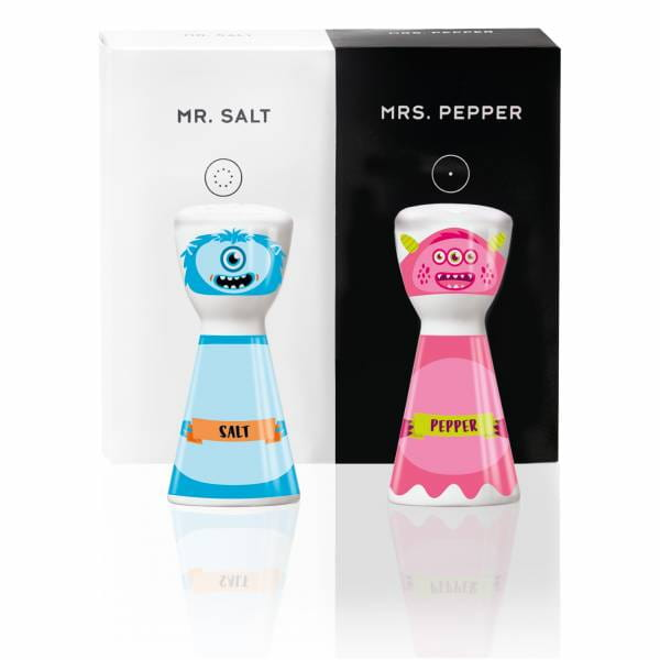 Mr. Salt & Mrs. Pepper salt and pepper set by Santiago Sevillano