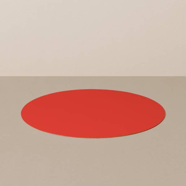 Platzset M, rund, in Schwarz/Rot
