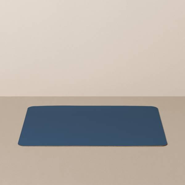 Tabletteinlage/Platzset L, eckig, in Hellblau/Jeans