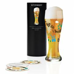 Wheat wheat beer glass by Izabella Markiewicz