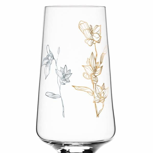 Prosecco Glass by Marvin Benzoni (Orchids)
