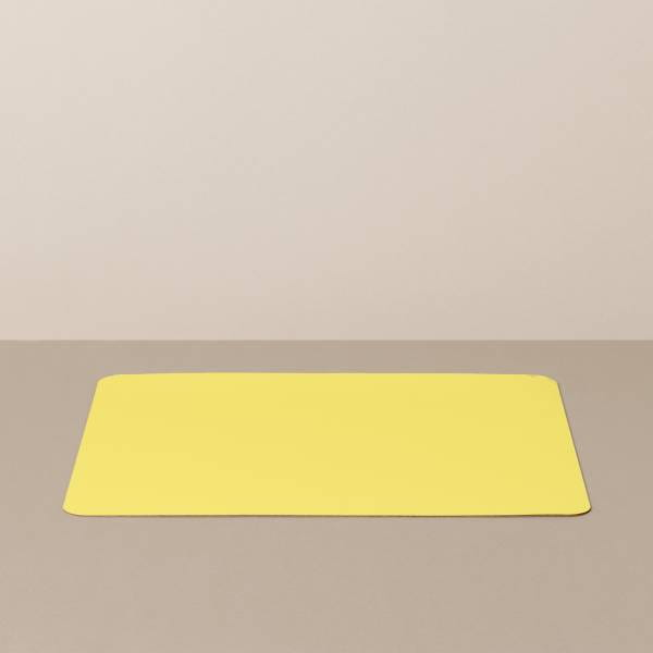 Tray insert / placemat L, square, in black / yellow