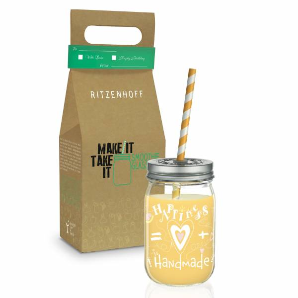 Make It Take It smoothie glass by Petra Mohr