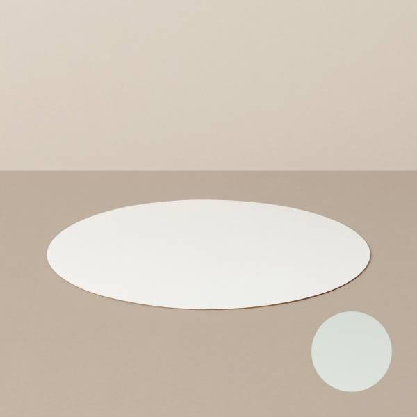 Platzset M, rund, in Weiß/Mint