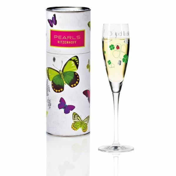 Pearls Design Proseccoglas von Ilario Rabbiosi