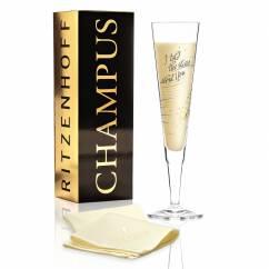 Champus Champagne Glass by Natalia Yablunovska