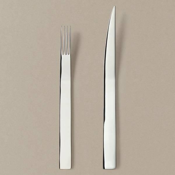 Menübesteck-Set Messer/Gabel in Silber