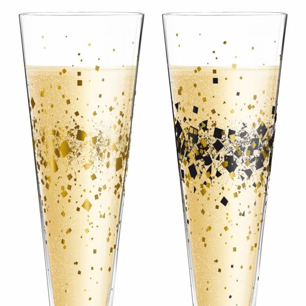 Champus Champagnerglas-Set von Ramona Rosenkranz (Day & Night Sparkle)