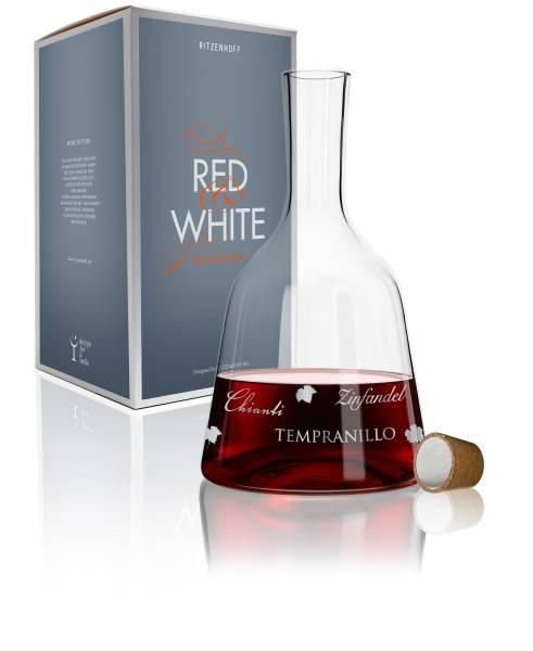 Red & White Weinkaraffe von Alice Wilson