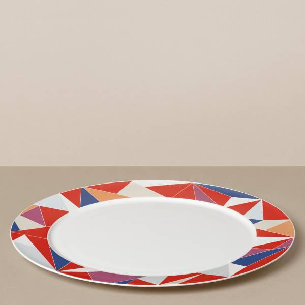 """Glacier"" presentation plate in red / colored"