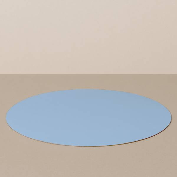 Placemat L, round, in light blue / jeans