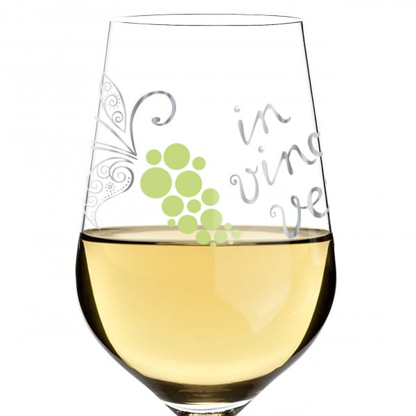 White white wine glass by Nicole Winter