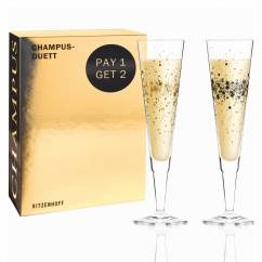 Champus Champagnerglas-Set von Ramona Rosenkranz (Day & Night Sparkle)