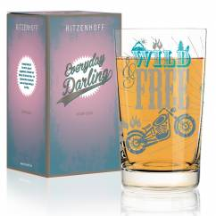 Everyday Darling soft drink glass by Petra Mohr (Be free)