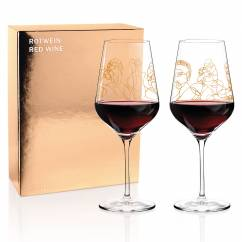 Wine Ensemble Red Wine Glass Set by Burkhard Neie (Pan & Selene | Zeus & Leda)