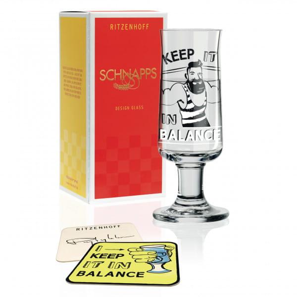 Schnapps shot glass by Dominika Przybylska (Balance)