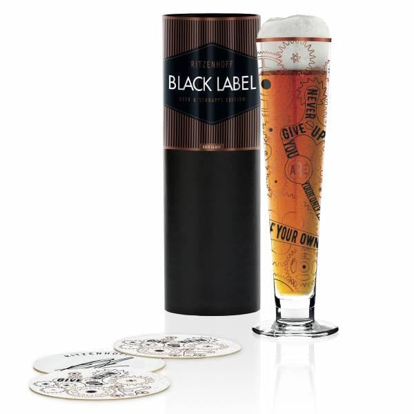 Black Label beer glass from Burkhard Neie