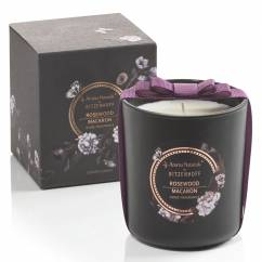 Noir scented candle large, Rosewood Macaron