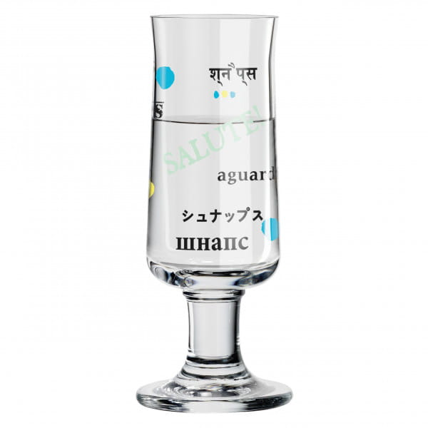 Schnapps shot glass by Poonam Choudhry