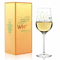 White white wine glass by Kathrin Stockebrand