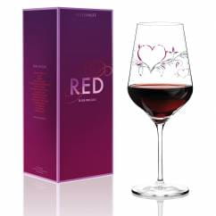 Red wine glass from Kurz Kurz Design
