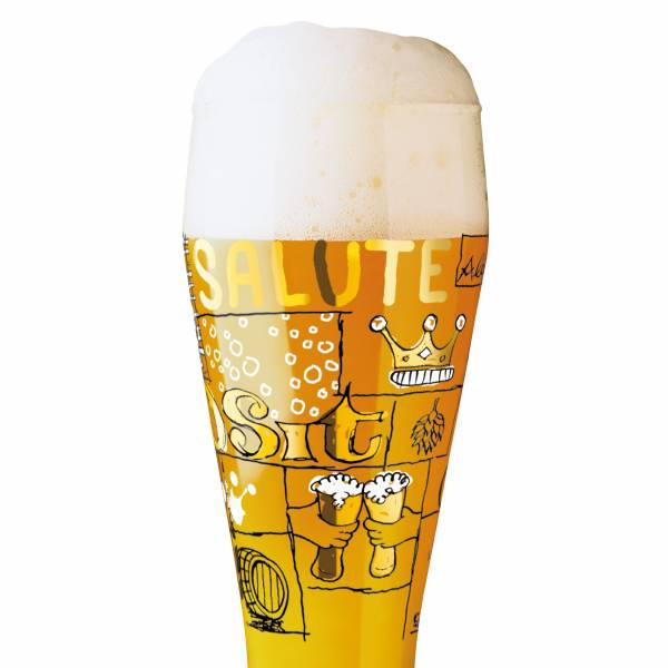 Wheat beer glass from Potts