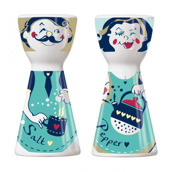 Mr. Salt & Mrs. Pepper salt and pepper set by Dominika Przybylska