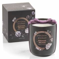 Noir scented candle, Rosewood Macaron (H: 8.5 cm, ø 7.5 cm)