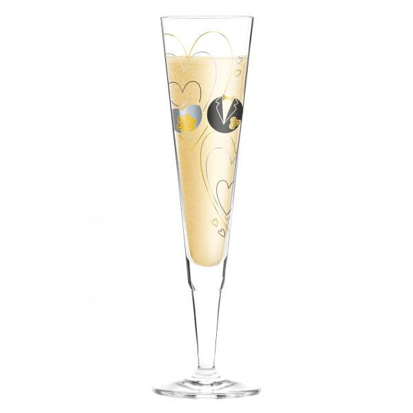 Champus Champagne Glass by Sandra Brandhofer