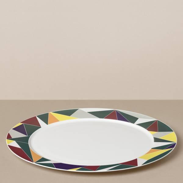 """""""Glacier"""" presentation plate in gray / colored"""