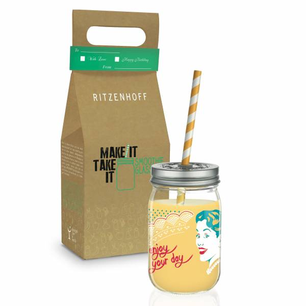 Make It Take It Smoothieglas von Andrea Hilles