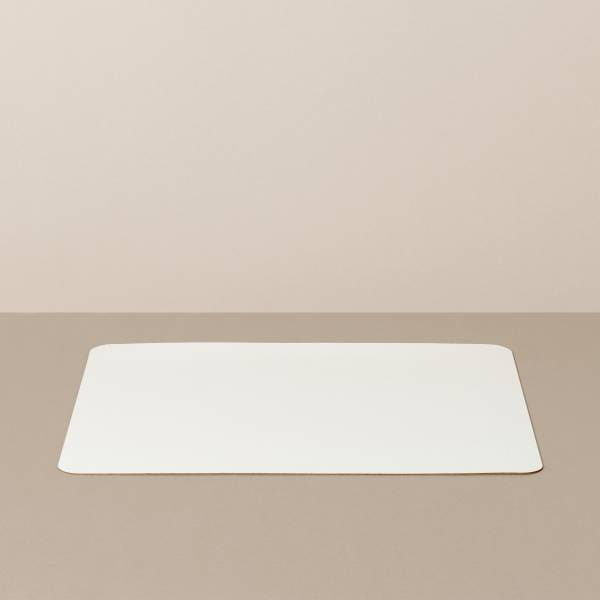 Tray insert / placemat L, square, in white / pink