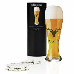 Weizen Wheat beer glass by Ellen Wittefeld