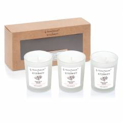 Nature Duftkerze 3er-Set, Sweet Pea & Jasmine
