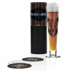 Black Label beer glass by Angela Schiewer