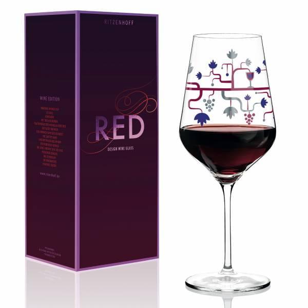 Red Rotweinglas von Pietro Chiera