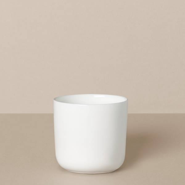 "Drinking cup ""Plain"" in white"
