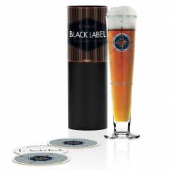 Black Label beer glass by Iris Interthal