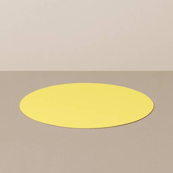 Placemat M, round, in black / yellow