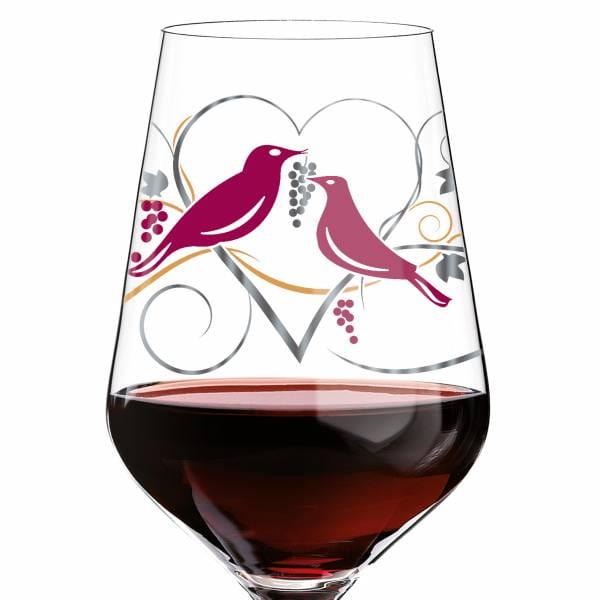 Red Rotweinglas von Anissa Mendil