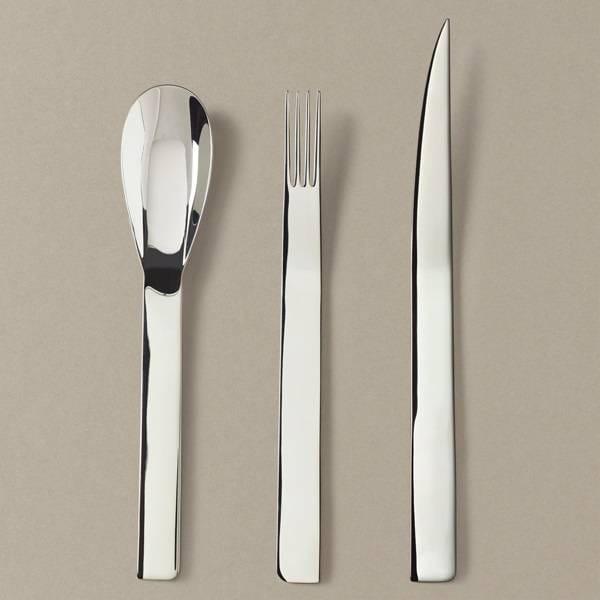 Tafelbesteck-Set Messer/Gabel/Löffel in Silber