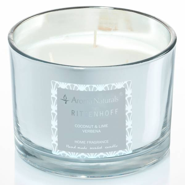 Luxury scented candle 3-wick, Coconut & Lime Verbenna