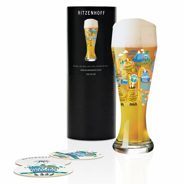 Weizen Wheat beer glass by Sascha Morawetz