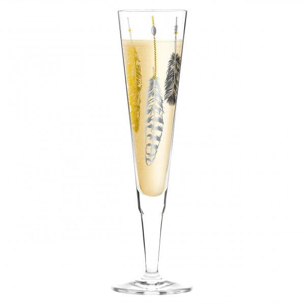 Champus Champagnerglas von Kathrin Stockebrand