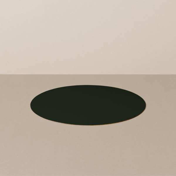 Untersetzer S, rund, in Schwarz/Gelb