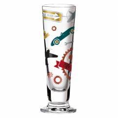 Black Label shot glass from Shinobu Ito