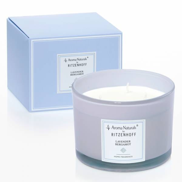 Modern Duftkerze 3-Docht, Lavender Bergamot