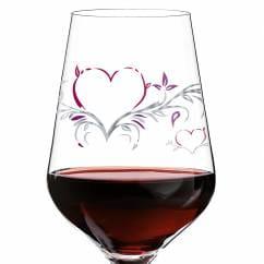 Red wine glass from Kurz Kurz Design
